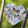 3.47ct Antique Heart Shaped Diamond GIA F SI2 9