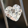 3.47ct Antique Heart Shaped Diamond GIA F SI2 5
