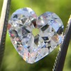 3.47ct Antique Heart Shaped Diamond GIA F SI2 8