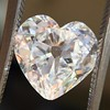 3.47ct Antique Heart Shaped Diamond GIA F SI2 19