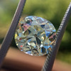 3.60ct Antique Cushion Cut S/T color, VS2 clarity 9