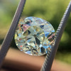 3.60ct Antique Cushion Cut S/T color, VS2 clarity 6