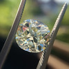 3.60ct Antique Cushion Cut S/T color, VS2 clarity 18