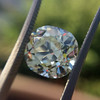 3.60ct Antique Cushion Cut S/T color, VS2 clarity 7