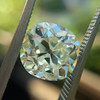 3.60ct Antique Cushion Cut S/T color, VS2 clarity 21