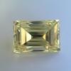 3.75ct Vintage Fancy Yellow Step Cut Diamond, GIA FY VS2 25