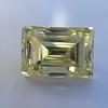 3.75ct Vintage Fancy Yellow Step Cut Diamond, GIA FY VS2 30