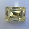 3.75ct Vintage Fancy Yellow Step Cut Diamond, GIA FY VS2 18