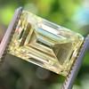 3.75ct Vintage Fancy Yellow Step Cut Diamond, GIA FY VS2 6
