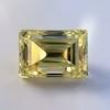 3.75ct Vintage Fancy Yellow Step Cut Diamond, GIA FY VS2 21