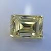 3.75ct Vintage Fancy Yellow Step Cut Diamond, GIA FY VS2 16