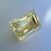 3.75ct Vintage Fancy Yellow Step Cut Diamond, GIA FY VS2 29