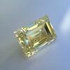 3.75ct Vintage Fancy Yellow Step Cut Diamond, GIA FY VS2 26