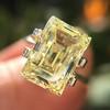 3.75ct Vintage Fancy Yellow Step Cut Diamond, GIA FY VS2 3