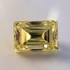 3.75ct Vintage Fancy Yellow Step Cut Diamond, GIA FY VS2 1