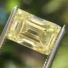 3.75ct Vintage Fancy Yellow Step Cut Diamond, GIA FY VS2 2
