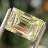 3.75ct Vintage Fancy Yellow Step Cut Diamond, GIA FY VS2 9