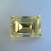 3.75ct Vintage Fancy Yellow Step Cut Diamond, GIA FY VS2 24