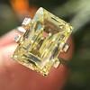 3.75ct Vintage Fancy Yellow Step Cut Diamond, GIA FY VS2 5