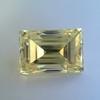 3.75ct Vintage Fancy Yellow Step Cut Diamond, GIA FY VS2 14