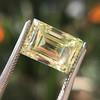 3.75ct Vintage Fancy Yellow Step Cut Diamond, GIA FY VS2 13