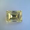 3.75ct Vintage Fancy Yellow Step Cut Diamond, GIA FY VS2 23