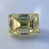 3.75ct Vintage Fancy Yellow Step Cut Diamond, GIA FY VS2 22