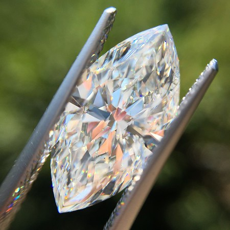 4.03ct Vintage Marquise Cut Diamond GIA H SI1