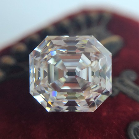 4.09ct Antique Asscher Cut Diamond GIA G VS1