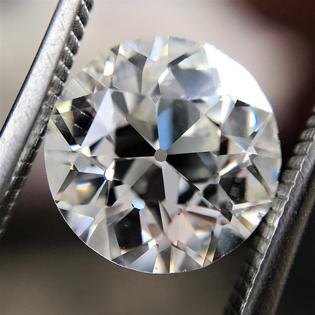 4.13ct Old European Cut Diamond GIA J VS1