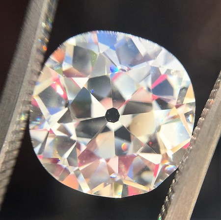 4.19ct Antique Cushion Cut Diamond GIA I VS1