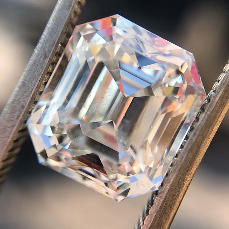 4.45ct Antique Emerald Cut Diamond, GIA I SI2