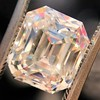 4.45ct Vintage Emerald Cut Diamond, GIA I SI2 9