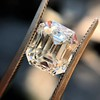 4.45ct Vintage Emerald Cut Diamond, GIA I SI2 12