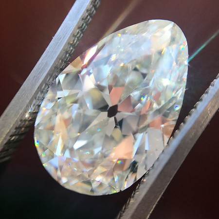 4.54ct Antique Pear Shape Diamond GIA J VS1