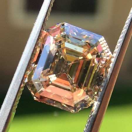 4.58ct Fancy Brown Vintage Emerald Cut Diamond