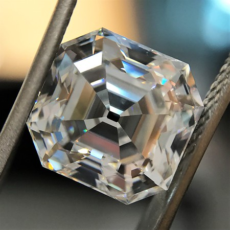 4.67ct Antique Asscher Cut Diamond GIA F IF