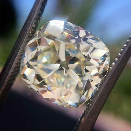 5.31ct Antique Cushion Cut Diamond
