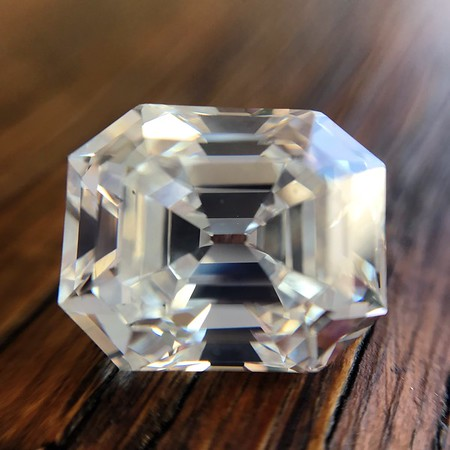 5.68ct Antique Emerald Cut Diamond GIA K VS2