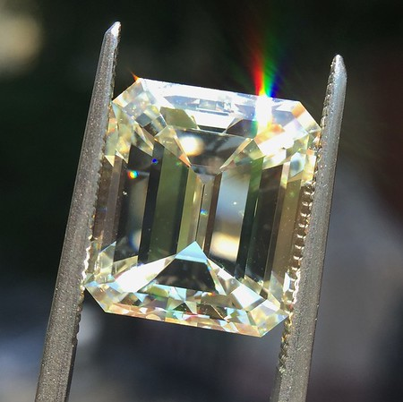 9.37ct Vintage Emerald Cut Diamond