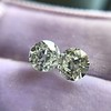 1.19ctw Old European Cut Diamond Pair 4
