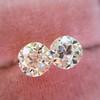 2.04ctw Old European Cut Diamond Pair, GIA D VS2/E SI1 8
