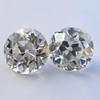 2.04ctw Old European Cut Diamond Pair, GIA D VS2/E SI1 4