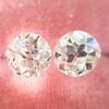 2.04ctw Old European Cut Diamond Pair, GIA D VS2/E SI1 1