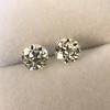 2.74ctw Old European Cut Diamond Pair GIA L VS2 GIA L VS2