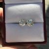 2.74ctw Old European Cut Diamond Pair GIA L VS2 GIA L VS2 1