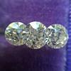 2.79ctw Old European Cut Diamond 3-Stone Suite 1.11ct center (GIA H VS2), and .84ct (GIA H VS2) and .84ct (GIA G VS1) 7