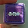 2.79ctw Old European Cut Diamond 3-Stone Suite 1.11ct center (GIA H VS2), and .84ct (GIA H VS2) and .84ct (GIA G VS1) 16