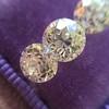 2.79ctw Old European Cut Diamond 3-Stone Suite 1.11ct center (GIA H VS2), and .84ct (GIA H VS2) and .84ct (GIA G VS1) 11