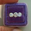 2.79ctw Old European Cut Diamond 3-Stone Suite 1.11ct center (GIA H VS2), and .84ct (GIA H VS2) and .84ct (GIA G VS1) 19